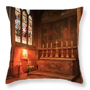 Chapel In St Severin Church Paris Throw Pillow