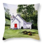 Chapel In The Mounts Throw Pillow
