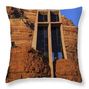 Chapel In The Rock Throw Pillow