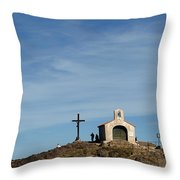 Chapel In The Sea Throw Pillow