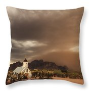 Chapel In The Storm Throw Pillow