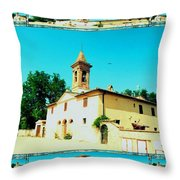 Chapel In The Sun Throw Pillow