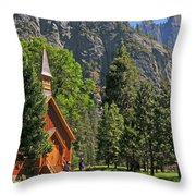 Chapel In The Valley Throw Pillow