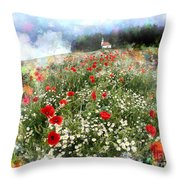 Chapel Of Colors Throw Pillow