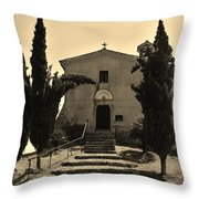 Chapel Of San Amasio Throw Pillow
