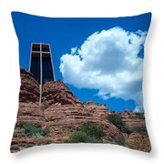 Chapel Of The Holy Cross In Sedona Throw Pillow