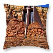 Chapel Of The Holy Cross  Sedona Arizona Throw Pillow