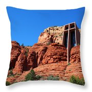 Chapel Of The Holy Cross Sedona Throw Pillow