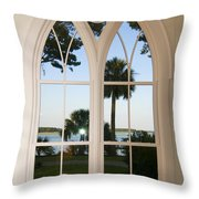 Chapel Palmetto Bluff Sc Throw Pillow