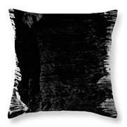 Chapel Rock Foundations Bw Throw Pillow