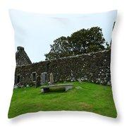 Chapel Ruins At Dunvegan Throw Pillow