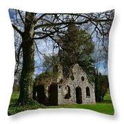 Chapel Ruins Throw Pillow