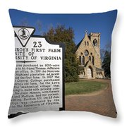 Chapel University Of Virginia Throw Pillow
