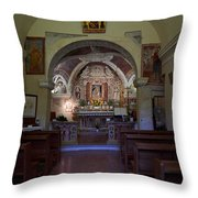 Chappel At Sirmione. Lago Di Garda Throw Pillow