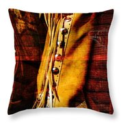 Chaps And Boots Throw Pillow