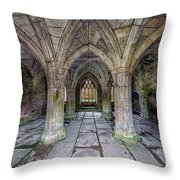 Chapter House Interior Throw Pillow by Adrian Evans