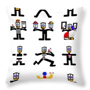 Character Act Throw Pillow