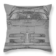 Charcoal Viper Throw Pillow
