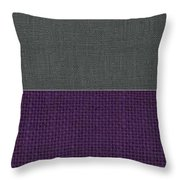 Charcoal With Purple Throw Pillow