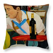 Chardonnay Throw Pillow by Anthony Dunphy