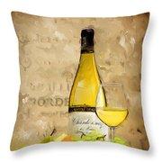 Chardonnay Iv Throw Pillow