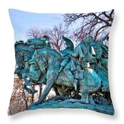 Charge On The Capitol Throw Pillow