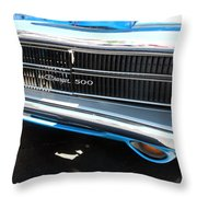 Charger 500 Front Grill And Emblem Throw Pillow