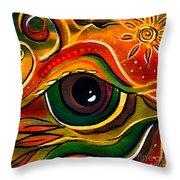 Charismatic Spirit Eye Throw Pillow