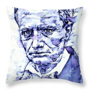 Charles Baudelaire Portrait Throw Pillow