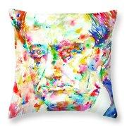 Charles Baudelaire Watercolor Portrait.1 Throw Pillow