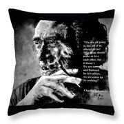 Charles Bukowski Throw Pillow