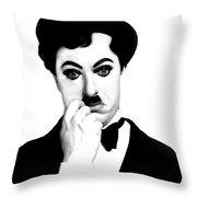 Charles Chaplin Throw Pillow