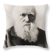 Charles Darwin Throw Pillow