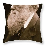 Charles Darwin Throw Pillow