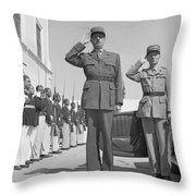 Charles De Gaulle In Carthage Tunisia 1943 Throw Pillow