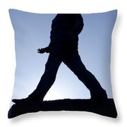 Charles De Gaulle Statue Silhouette On The Champs Elysees In Paris France Throw Pillow