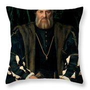 Charles De Solier Throw Pillow