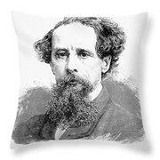 Charles Dickens, English Author Throw Pillow
