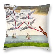 Charles Fox: Cartoon, 1782 Throw Pillow