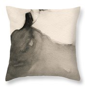 Charles James Swan Gown - Fashion Illustration Art Print Throw Pillow by Beverly Brown