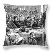 Charles Jules Guiteau (1840?-1882) Throw Pillow