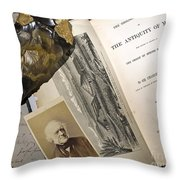 Charles Lyells Antiquity Of Man 1863 Throw Pillow by Paul D Stewart