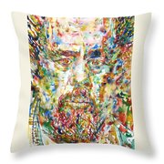 Charles Mingus Watercolor Portrait Throw Pillow