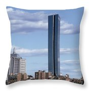 Charles River In Boston Throw Pillow