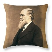 Charles Robert Darwin (1809-1882) Throw Pillow