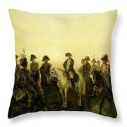 Charles Rochussen Napoleon Met Zijn Staf Throw Pillow
