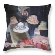 Charles Street Hats Throw Pillow