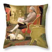 Charles Townley And His Friends Throw Pillow