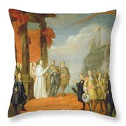 Charles V Leaving The Town Of Dort Throw Pillow