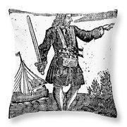 Charles Vane (c1680-1720) Throw Pillow
